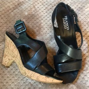 Lovely Black Franco Sarto Sandals EUC